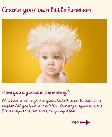 Create your own little Einstein