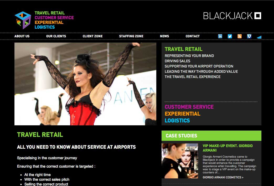 New Wordpress site for Blackjack Promotions