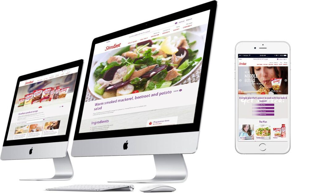New SlimFast Website with full Google optimisation