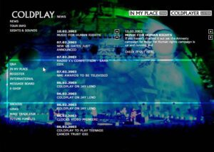 Coldplay Website Design 2003