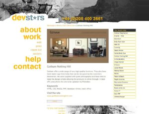 Devstars Website Design - 2005