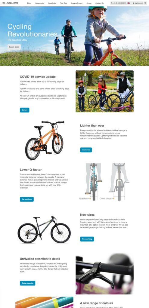 Islabikes Website Design