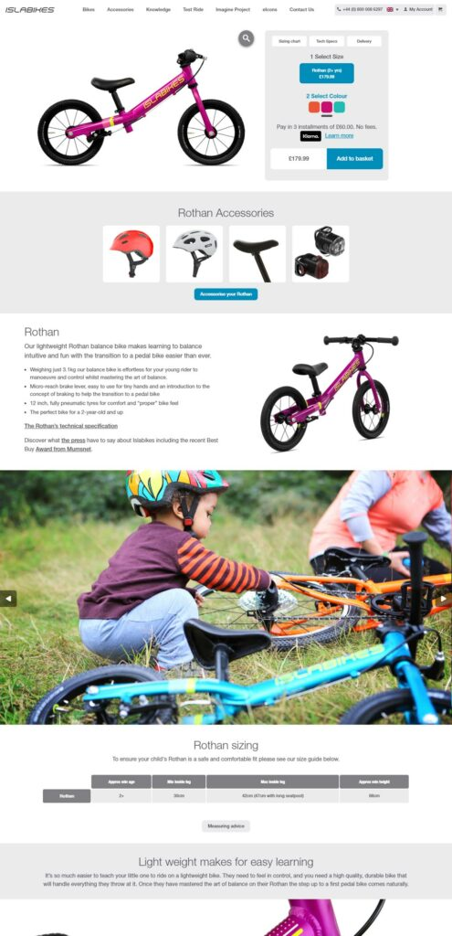Islabikes Website Optimisation