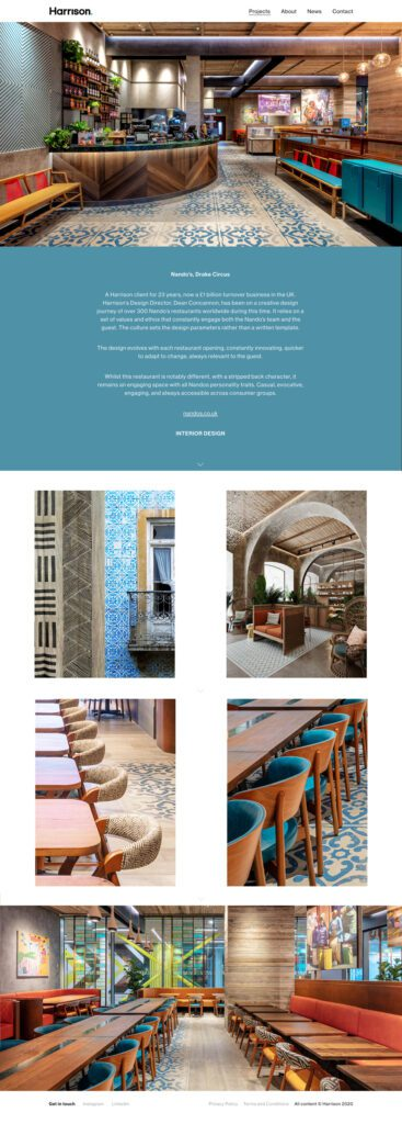 Harrison Interior Design Agency Website Development